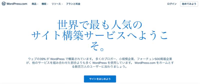 wordpress.com(無料ブログサービス版)