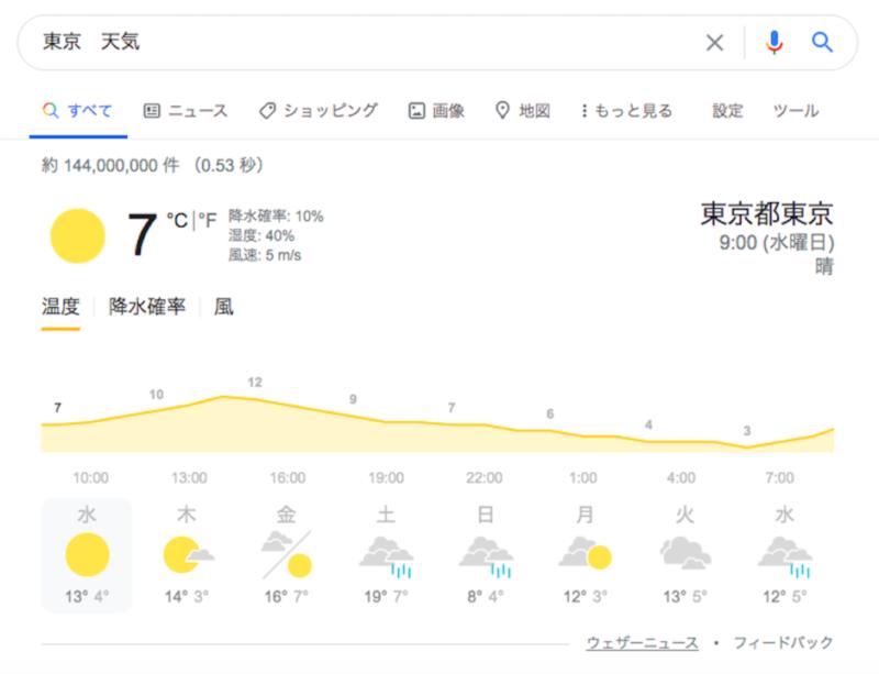 「天気」検索結果